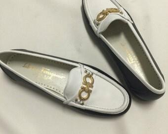 Ferragamo Loafers Vintage 1980's