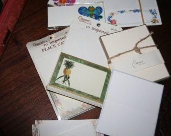 Assortment of Elegant Placecards