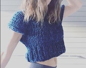 Tura crop top sweater - knitting pattern - PDF