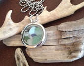 Genuine Irish Sea Glass filled Locket