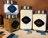 Custom Canister Labels Set of 6 Vinyl Decal