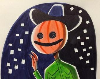 Inktober Pumpkin Man