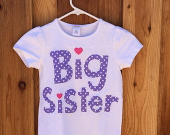 Size 8 Big Sister Shirt *SALE*