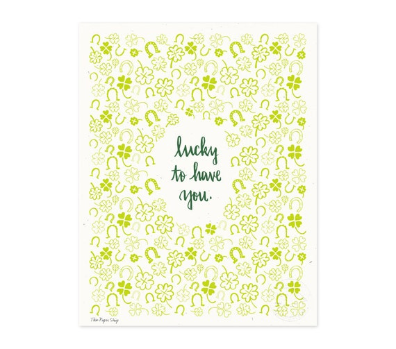 Lucky to Have You Illustrated Art Print