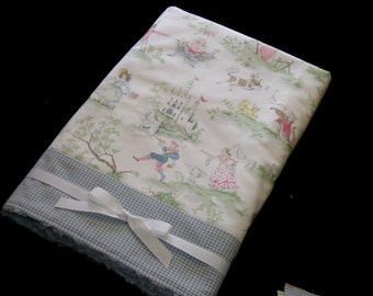 "ABC "" Over The Moon "" Toile  Baby Blanket  30"" Wide x 36"" Long"