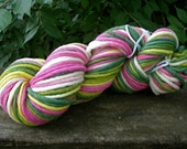 Meadow Flowers--Single Ply Bulky Skein--4 Ounces--100 Yards--Finger Chain Knit--Plant Dyed