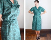 Jade 1960s Dress and Jacket Set - L
