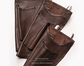 Soft Brown Steampunk Parasol Holster with Fan Pocket