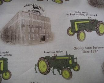 Licensed John Deere cotton farm fabric