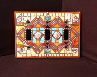 Mosaic Switchplate Cover- Southwest Motif