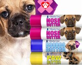 PUGGLE Nose to Toes Tube Combo Organic Relief for Dry Dog Noses, Rough Paws, Itchy Discomforts & Elbow Calluses with Border Collie Labels