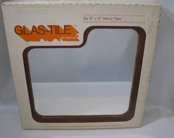 Vintage Hoyne Glass Mirror Tiles 12 x 12 Box of 6 Glas-Tile
