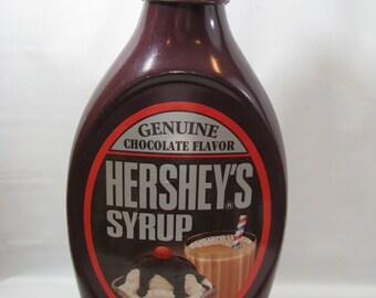 "Vintage Hershey's Chocolate Syrup Giant Bottle Plastic Bank 19"""