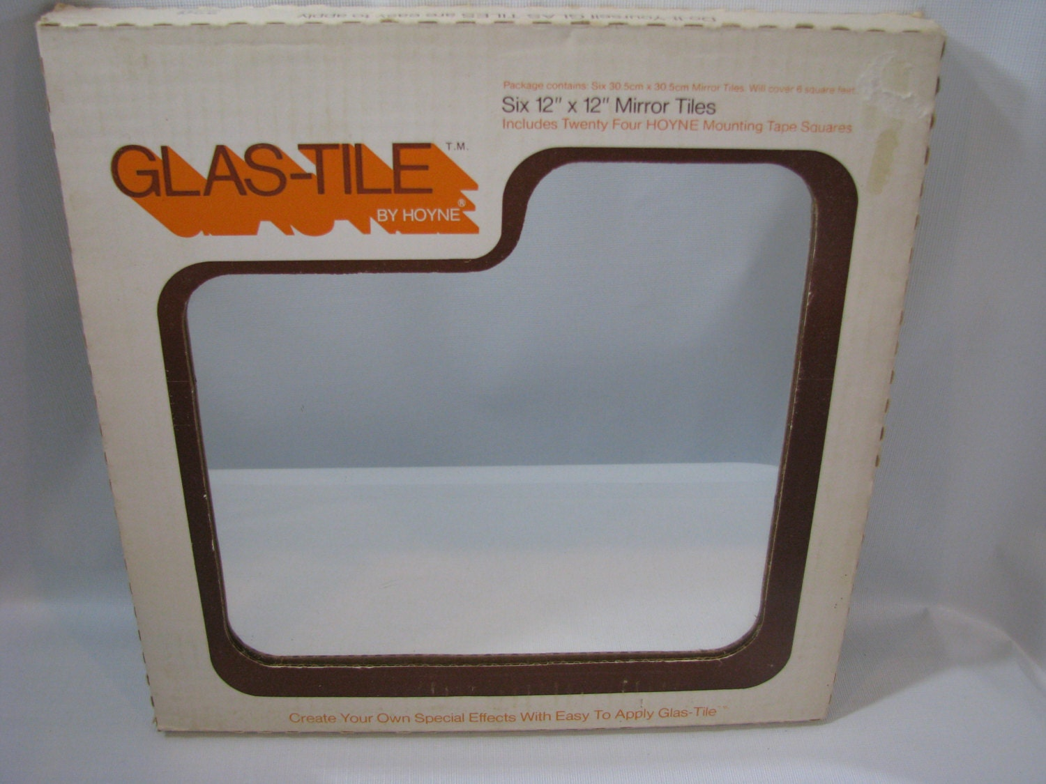vintage hoyne glass mirror tiles 12 x 12 box of 6 glas tile. Black Bedroom Furniture Sets. Home Design Ideas
