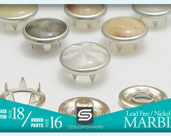 MARBLE   7 Colours Pearl Snap Fastener