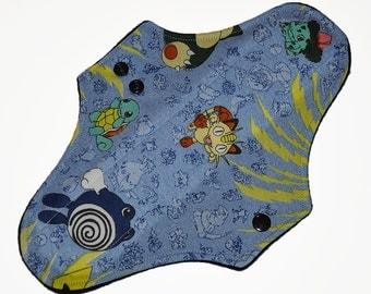 Moderate Core- Pokemon Reusable Cloth Maxi Pad- WindPro Fleece 10 Inches (25.5 cm)