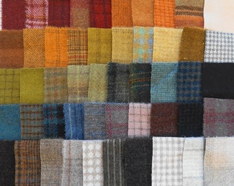 SALE Hand Dyed Felted Wool Scraps Bundle Number 1147 By Quilting Acres - Wool Applique - Quilting - Penny Rugs