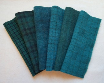 Hunter Green Hand Dyed and Felted Wool Fabric