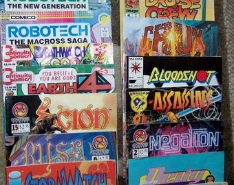ON SALE Vintage Comic Books, Echo, Next Man, Assassins, Scion, Bloodshot, Robotech, Books, Magazins, Collectible, Funnies, Comics, Assorted,