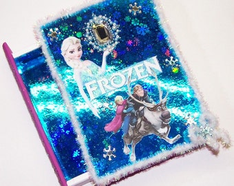 Decorated Box, Disney Frozen, Frozen, Anna, Elsa, Kristoff, Snowflakes, Teal, Burgandy, Ice, Winter, Moose, Jewel, Jewelry Box, Treasure Box