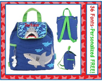 36 Fonts- Personalized SHARK Camo Quilted Backpack Monogrammed FREE- Diaper Bag/ Day Care/ Book Bag~ Horse, Cow, Tractor