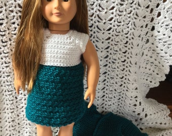 "American girl/18"" Dress and sweater"