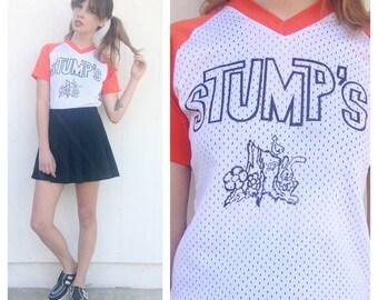 Vintage 80s STUMPS ringer baseball T shirt