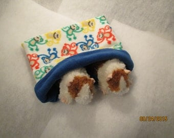 Snuggle Pouch/Cuddle Sack for Hedgehog, Guinea Pig, Small Animals 12 1/2 X 11 1/2 in Fleece Reversible