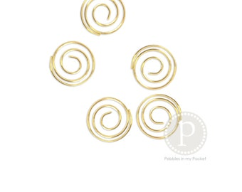 Spiral Clips: Gold (25 qty)
