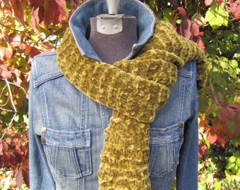 Olive Chenille Scarf