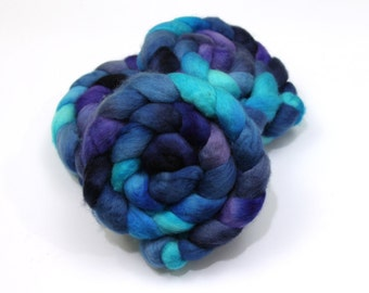 BFL Wool Roving - Hand Dyed Roving (Combed Top) - Felting or Spinning Fiber
