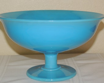 Cambridge Azure blue footed console bowl