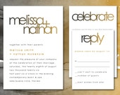 Printable Wedding Invitations, Modern Wedding Invites, Wedding Printable Invitation Suite Set