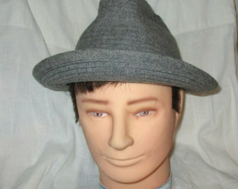 Mens Hat Gray Dobbs  Fifth Avenue New York Mens Vintage  Fedora Hat