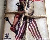 Zombie Hunter Vintage Advert Pocketbook/ Mini Notebook/ Zombie Unisex Notebook/ Birthday Gift/ Alternative Valentine
