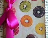 Donuts Notebook/ Small Journal/ Candy/ Stationery/ Perfect Birthday Xmas Gift/ Plain Lined Square Paper Choice