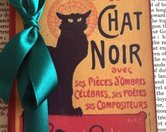 Chat Noir Notebook/ The Black Cat Small Journal/ Stationery Gift