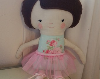 Ballerina fabric doll