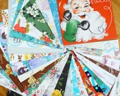 Vintage 1960s Large Lot of All Occasion Gift Wrapping Paper / Full Sheets For Medium Packages, Scrapbooking, Mixed Media