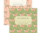 Fox & Deer Pocket Notebooks, Gifts for Mom, Gifts for Paperlovers, Hostest Gifts, Journal, Fox Notebook, Deer Notebook, Fox Stationery