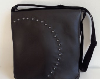 Messenger/Laptop Bag in Black and Gray -- Free US Shipping