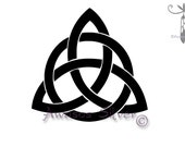 Trinity Knot Decal.  Triquetra. Trinity knot, celtic knot decal