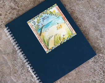 Beach Journal Spiral Binding Heavy Pages for Sketching Writing Doodles Sandy Gingras