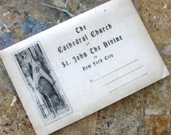 Vintage New York City Souvenir Book The Catherdral Church of St John the Divine