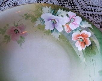 Antique Noritake Morimura Nippon Vegetable Serving Bowl, Hand Painted Dish With Maker's Mark Backstamp Circa 1911 - 1921