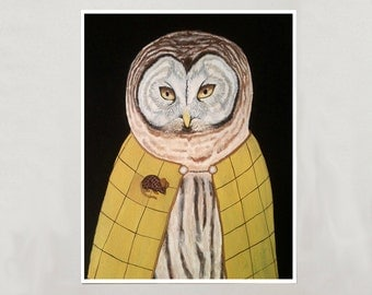Art Print - Owl - Signed by Artist -- 8x10 // 16x20 // 22x28