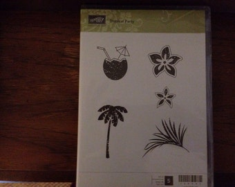 Stampin up tropical party stamp set