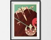 Star Wars, Inspired, Retro, Vintage, Offset, X-Wing, Print (A3) Star Wars Print, Star Wars Poster, X-Wing Print