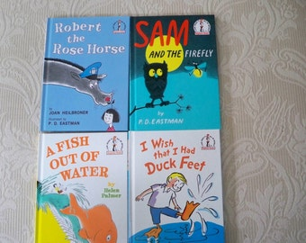 """Vintage Children's Book Set Four """"I Can Read"""" Beginner Books Early Literacy"""