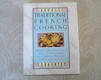 "Vintage Book Cookbook ""Traditional French Cooking"" Authentic Recipes Haute Cuisine"